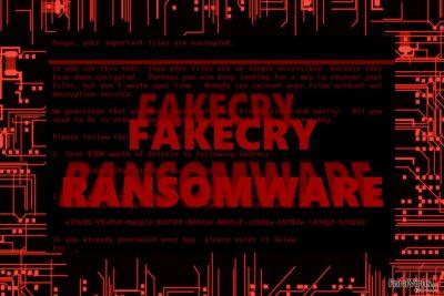 Imaginea care afişează virusul FakeCry