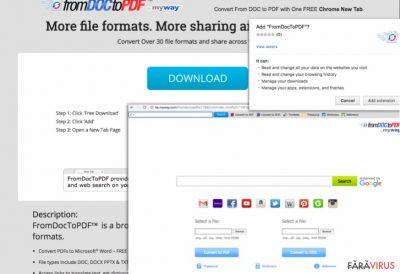Captură de ecran a lui From Doc to PDF Toolbar