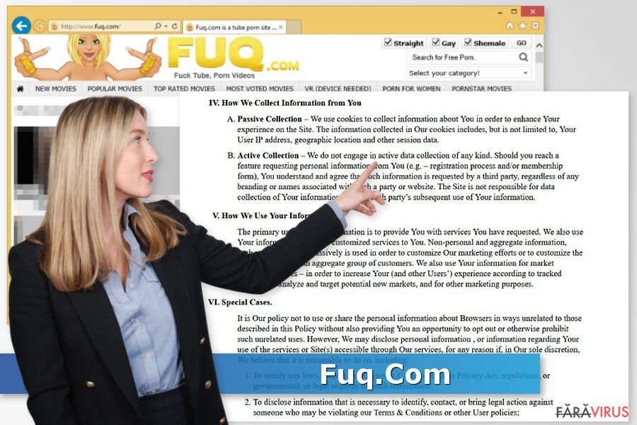 Virusul Fuq.Com captură de ecran