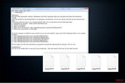Nota de recompensă a ransomware-ului GandCrab