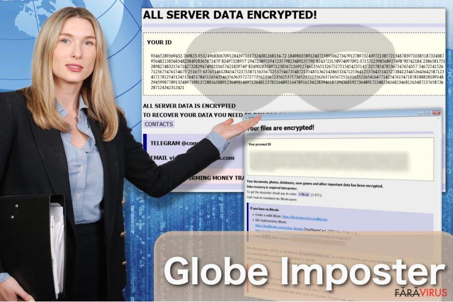 Imaginea virusului Globe Imposter