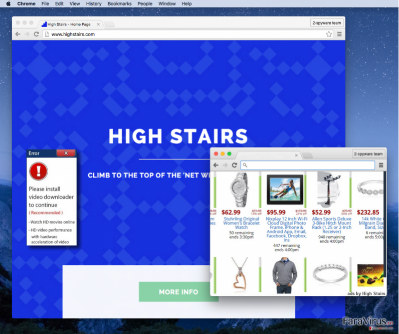 ads by High Stairs example and the official High Stairs page