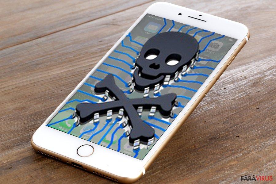 Imaginea virusului iPhone
