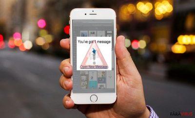 Imagine care afişează virusul iOS