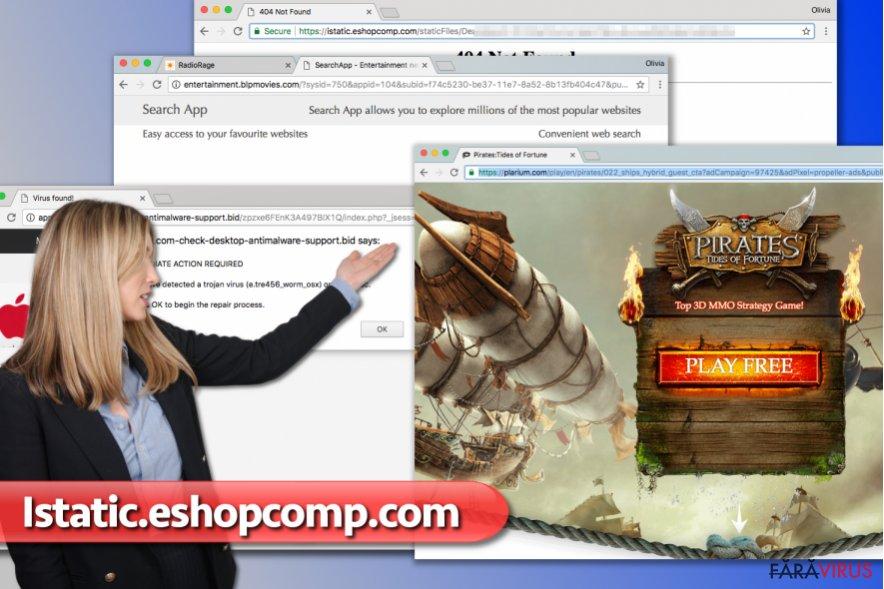 Reclamele Istatic.eshopcomp.com captură de ecran