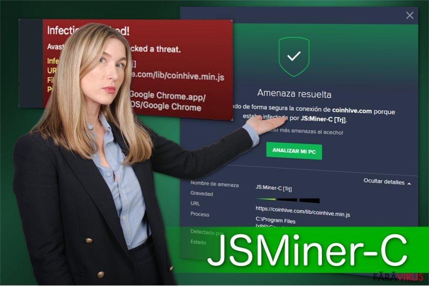 Ilustrarea troianului JS:Miner-c