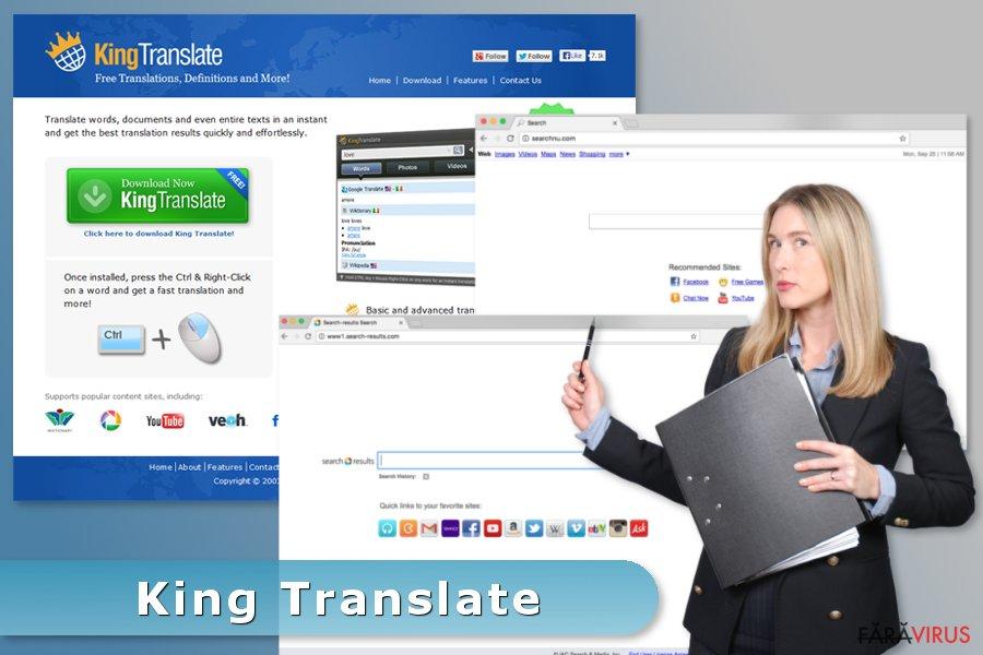 Exemplu al virusului King Translate
