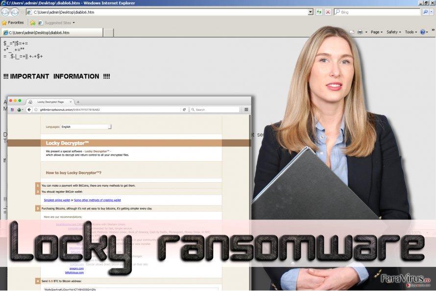 Ransomware-ul Locky captură de ecran