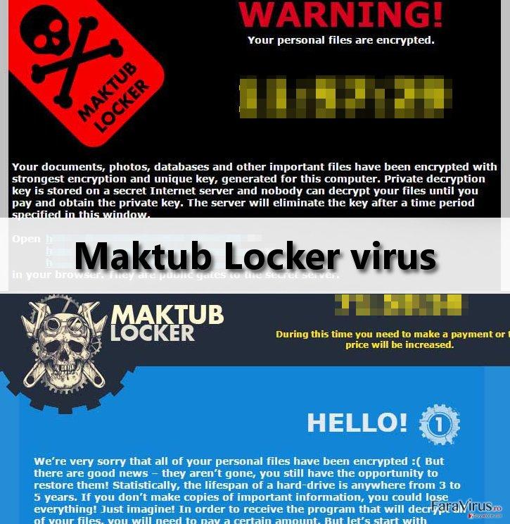 Maktub Locker virus ransom note