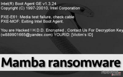 Ransomware-ul Mamba nu permite utilizatorului să folosească PC-ul