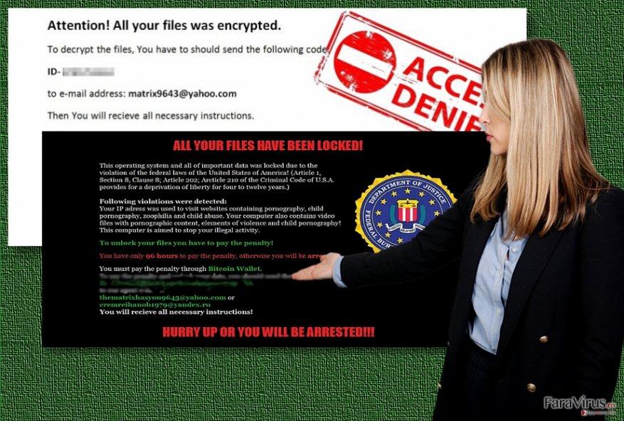 Exemple ale ransomware-ului Matrix