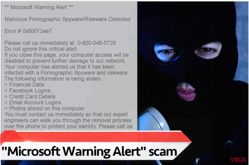 "Virusul ""Microsoft Warning Alert"""