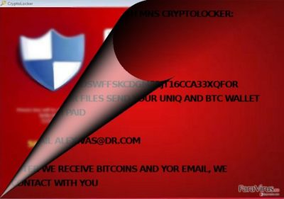 Este MNS Cryptolocker asociat cu CryptoLocker?