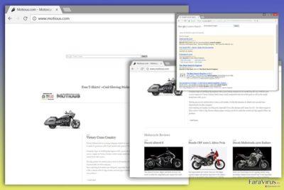 Imaginea virusului Motious.com