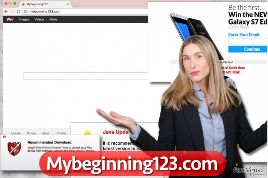 Browser hijackerul Mybeginning123.com