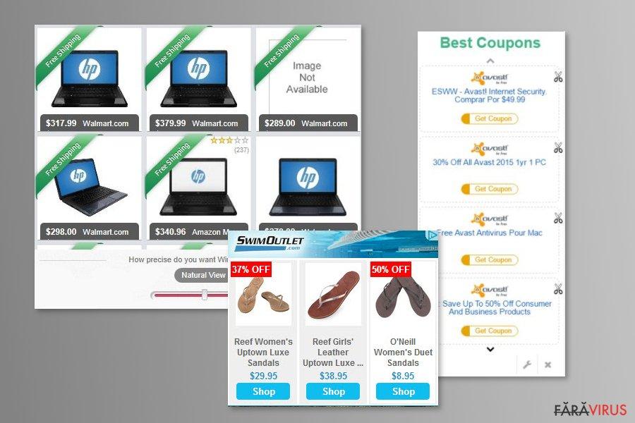 Example of MyCouponize ads