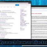 Virusul Mysearch captură de ecran