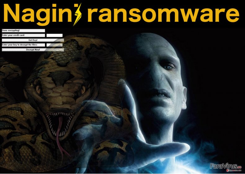 Illustration of the Nagini ransomwre ransom note