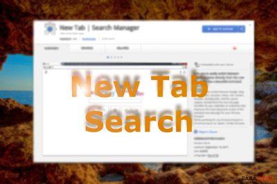 Imagine ce afişează New Tab Search pe Chrome web store