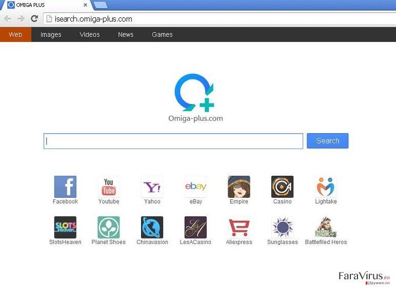 Omiga-plus.com captură de ecran