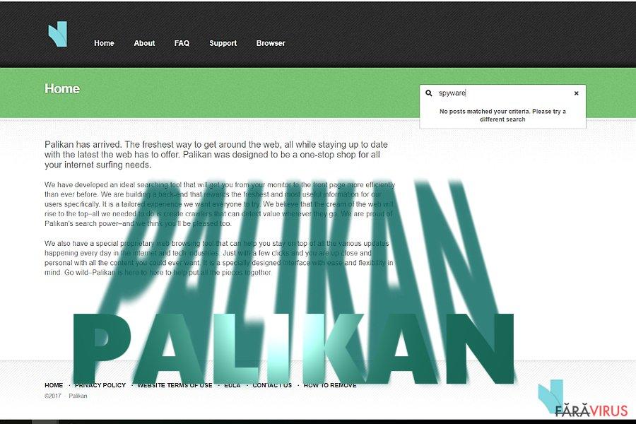 Redirecţionarea Palikan.com captură de ecran