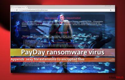 Imaginea virusului PayDay