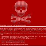 Virusul Petya captură de ecran