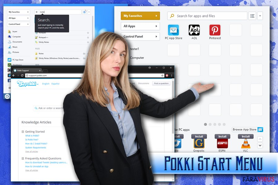 Virusul Pokki Start Menu