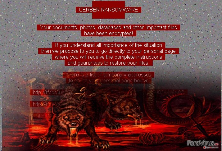 Red Cerber ransom note