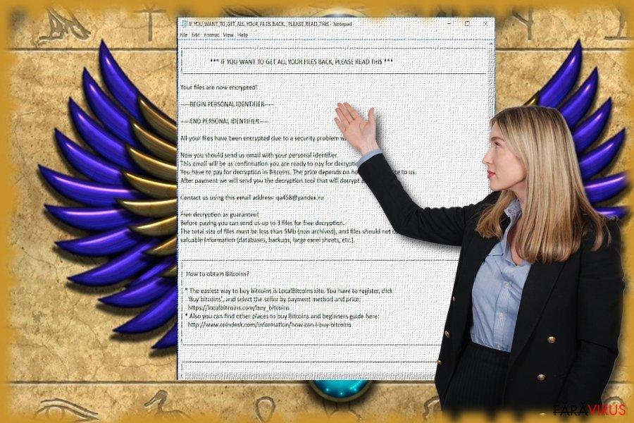 Imaginea care ilustrează fişierul text a malware-ului Scarab.