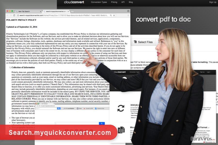 Imaginea virusului Search.myquickconverter.com