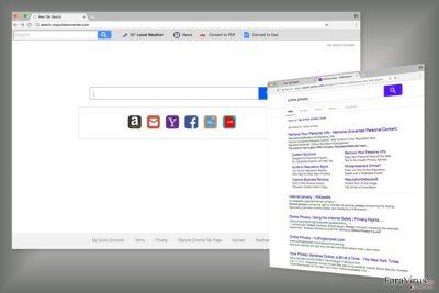 Exemplu al motorului de căutare Search.myquickconverter.com