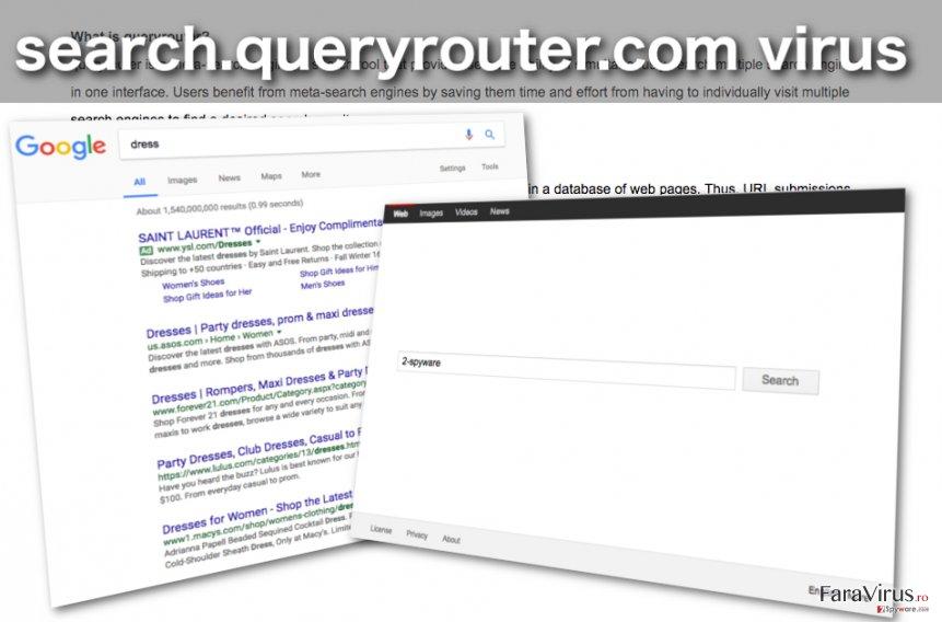 Imaginea browser hijackerului Search.queryrouter.com