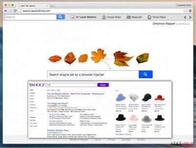 Virusul de redirecţionare Search.searchdirma.com