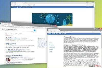 Imaginea browser hijackerului SearchAssist.net