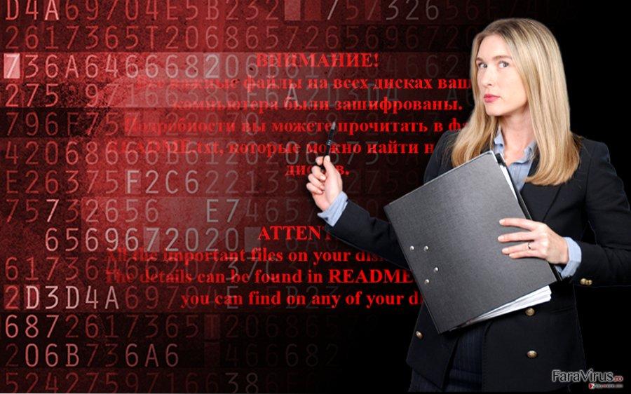Ransomware-ul Shade captură de ecran