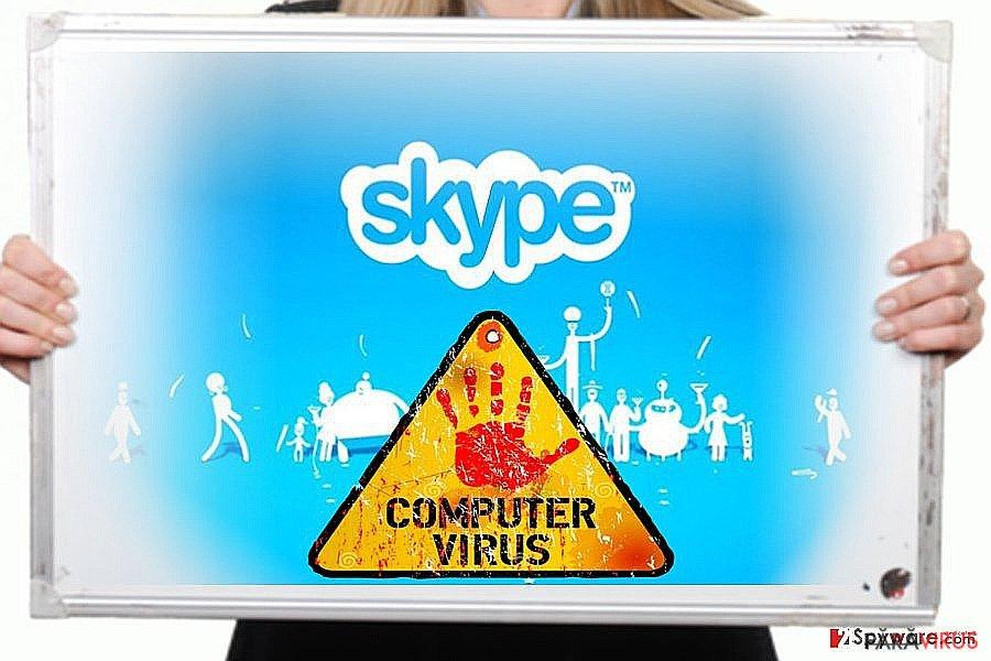The image of Skype virus