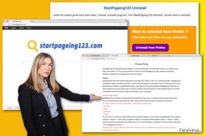 Ilustrarea virusului StartPageing123.com