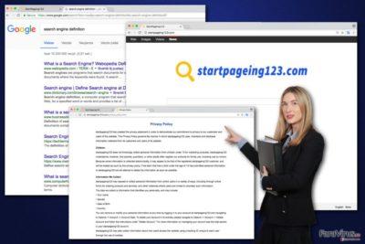 Imaginea virusului StartPageing123