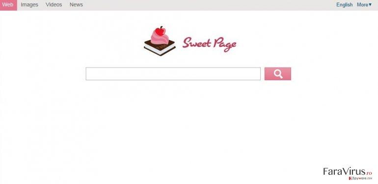 Sweet-page.com captură de ecran