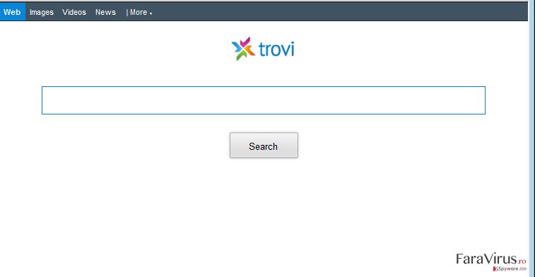 Redirecţionare Trovi.com captură de ecran