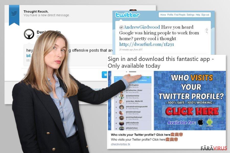 Virusul Twitter captură de ecran
