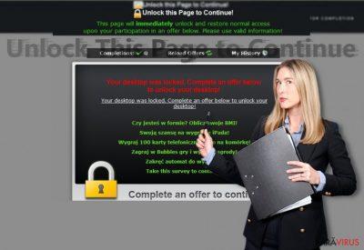 """Imaginea care dezvăluie alertele de la """"Unlock this Page to Continue!"""""""
