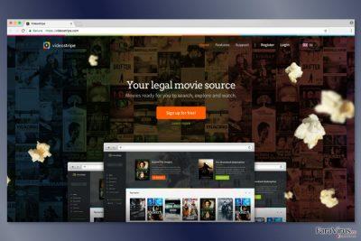 Captură de ecran a website-ului VideoStripe
