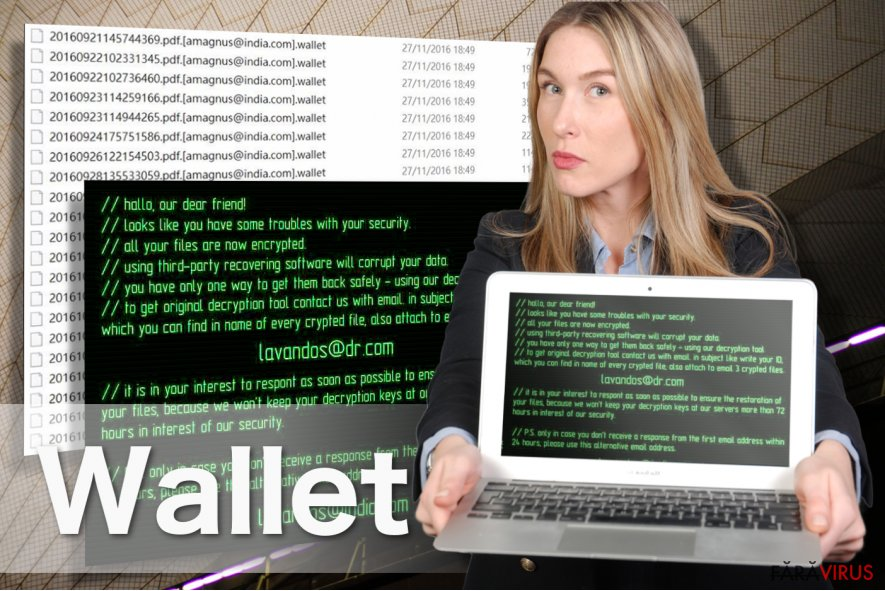 Imaginea ransomware-ului Wallet