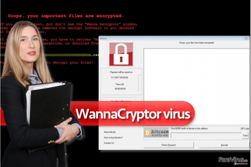 Virusul de tip ransomware WannaCryptor