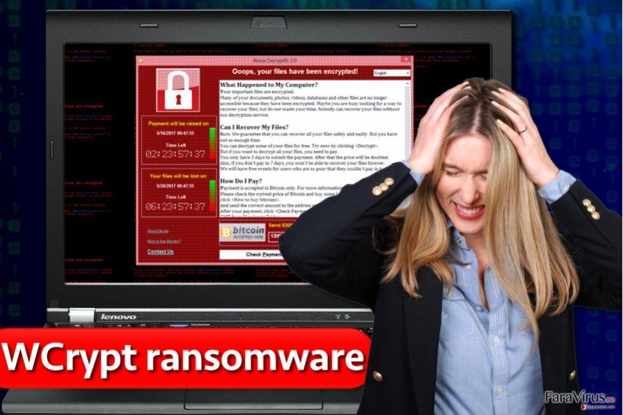 Virusul de tip ransomware WCrypt
