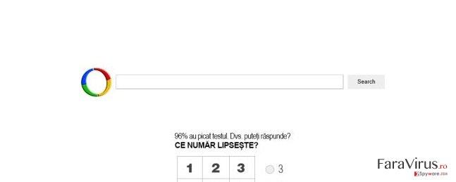 Websearch.searchfix.info virus captură de ecran