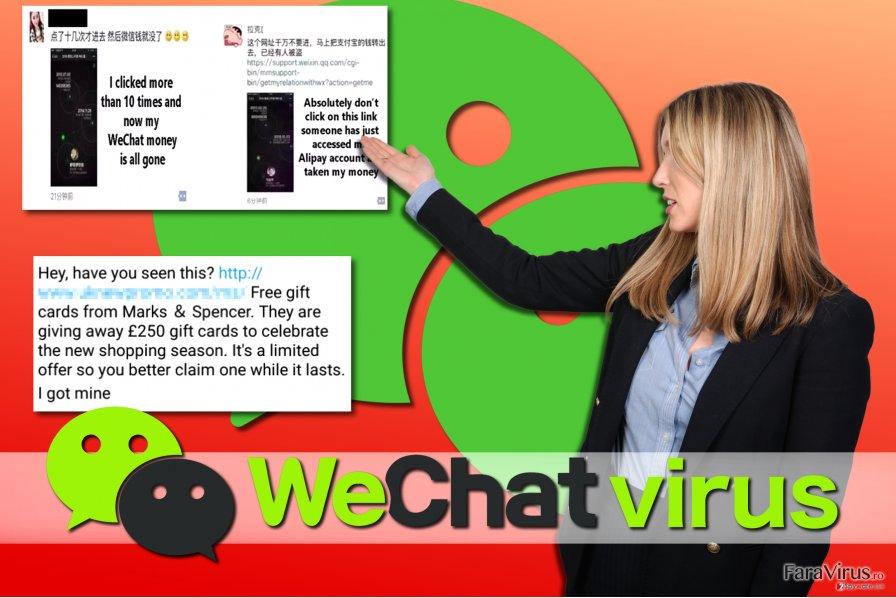 Exemple ale virusului WeChat