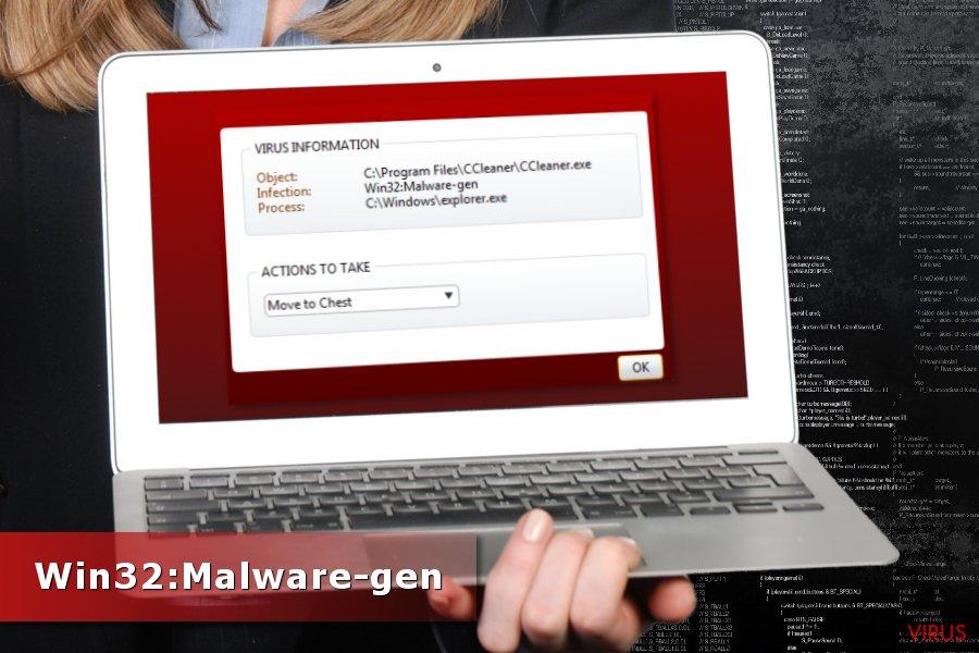 Detectarea lui Win32:Malware-gen